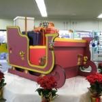 リボードでクリスマス装飾用の「ソリ」のエコディスプレイ。