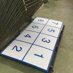 シルク印刷で選挙ボード作成。