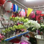 造花装飾の相談に行ってきました。
