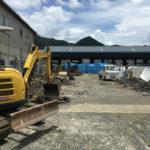 新工場の工事がスタートしました。