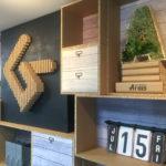 リボードで会社の棚を作りました。