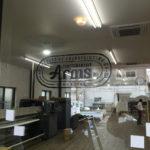 Arms工場でシルク印刷の現場刷り。
