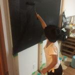 子供部屋に黒板製作中