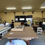 ボロ倉庫が作業場に生まれ変わりました。